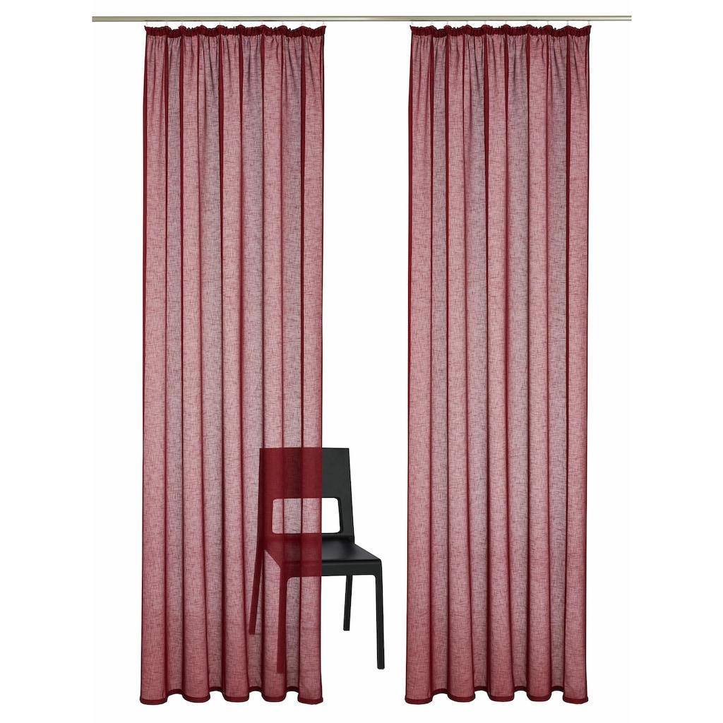 my home Gardine »REGINA«, Vorhang, Fertiggardine, transparent
