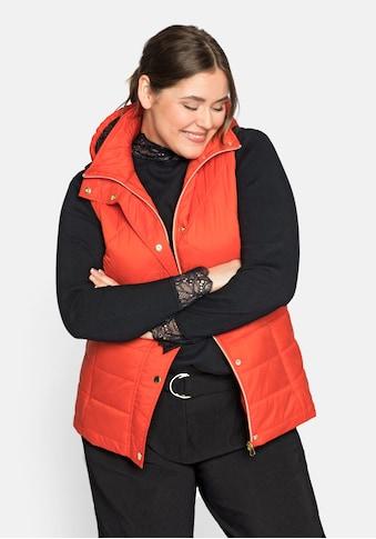 Sheego Steppweste, mit Kapuze kaufen