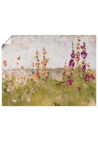 Artland Wandbild »Stockrosen am Meer«, Blumen, (1 St.), in vielen Grössen &... kaufen