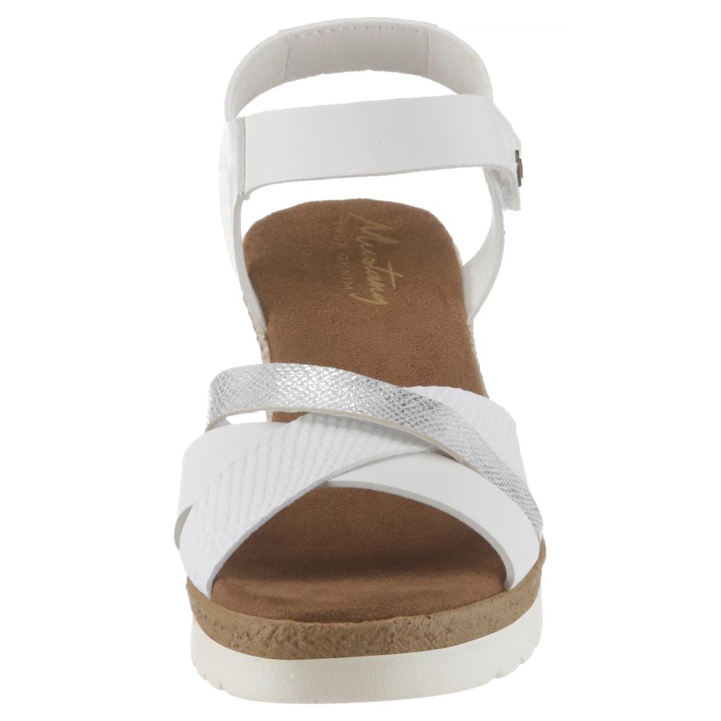 Mustang Shoes Sandalette, mit Reptilprägung