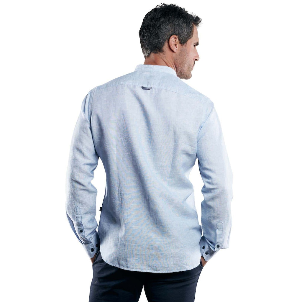 Engbers Stehkragenhemd aus Halbleinen