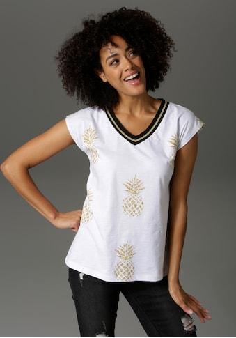 Aniston CASUAL T-Shirt, allover mit Ananas bedruckt kaufen