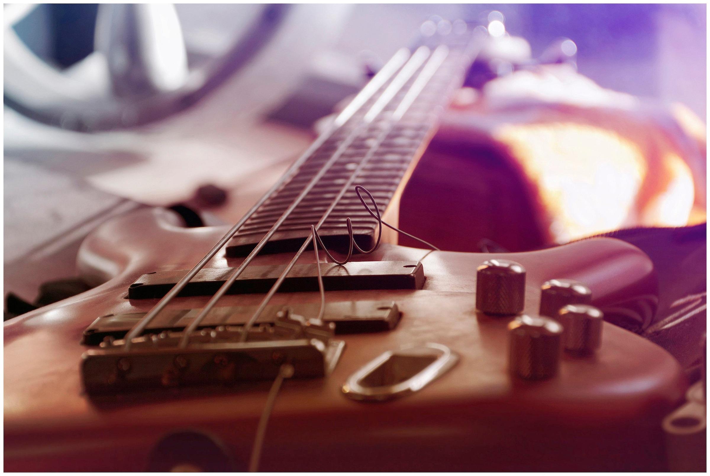 Image of Art & Pleasure Acrylglasbild »Bass guitar«