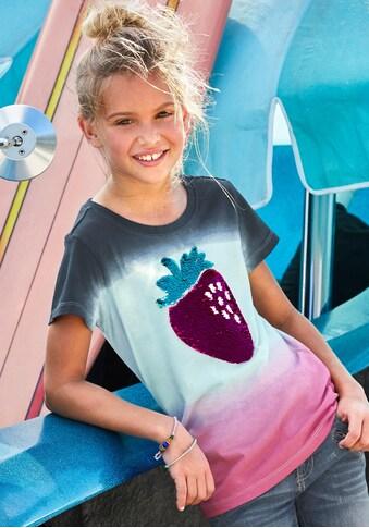 KIDSWORLD T-Shirt, mit Wendepailletten & Farbverlauf kaufen