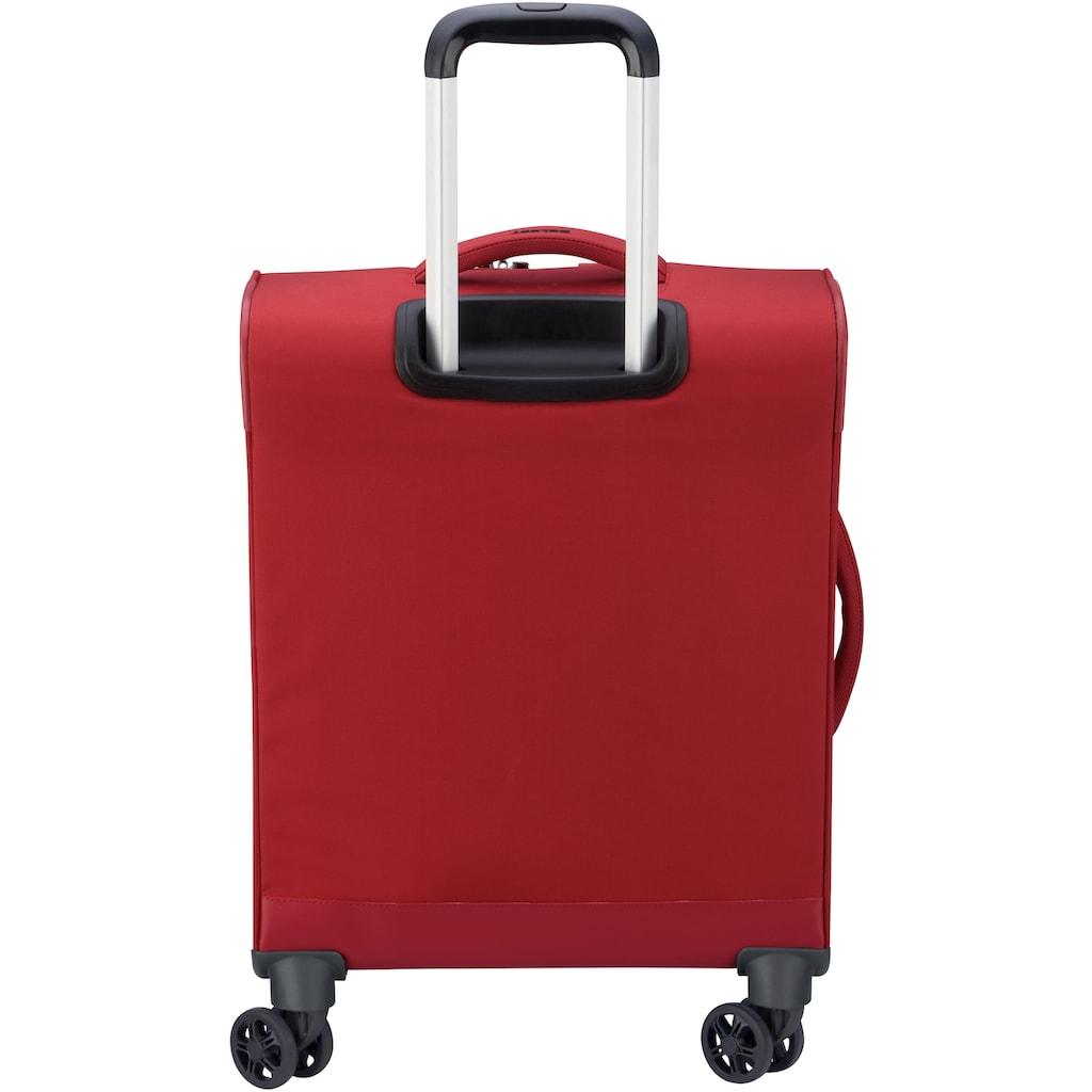 Delsey Weichgepäck-Trolley »Mercure Slim Line, 55 cm, red«, 4 Rollen