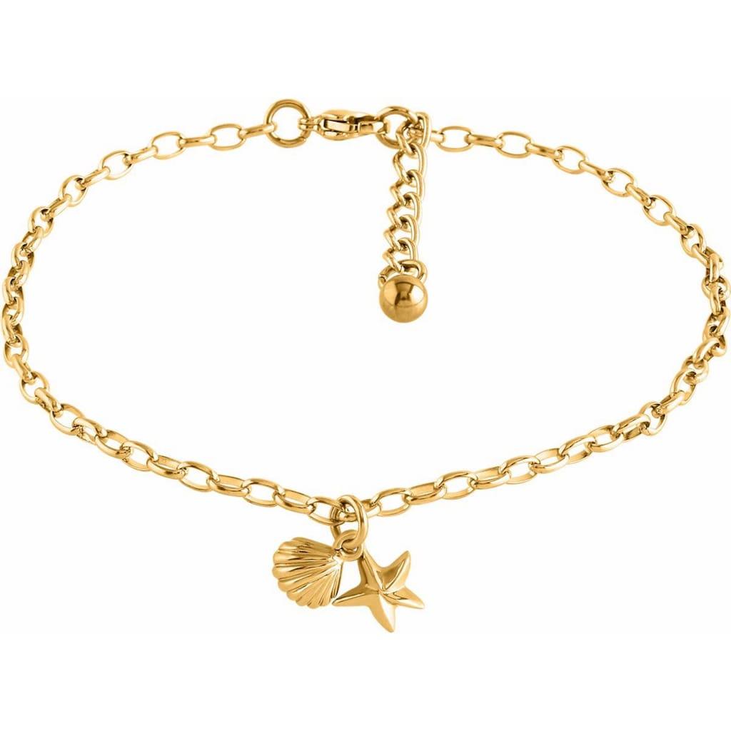 Firetti Fusskette »Seestern und Muschel, gelbgoldfarben«