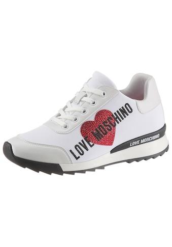 LOVE MOSCHINO Sneaker, mit schöner Steinchenverzierung kaufen