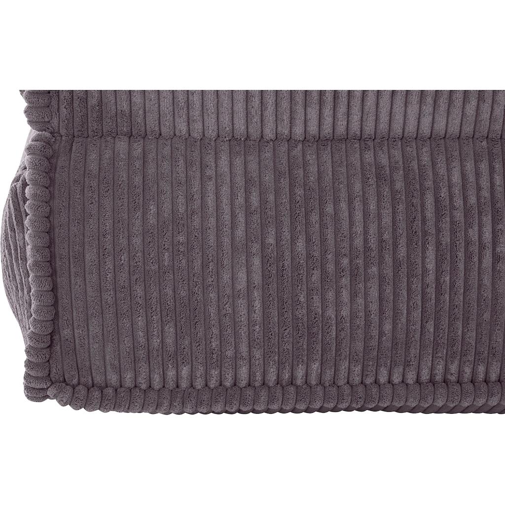INOSIGN Sessel »Missy«, Loungesessel aus weichem Cord, in 2 Grössen, mit Schlaffunktion und Pouf-Funktion.