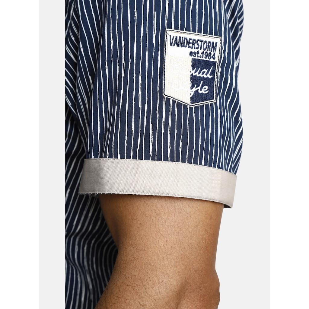 Jan Vanderstorm Kurzarmhemd »BODIL«, mit unregelmässigen Streifen