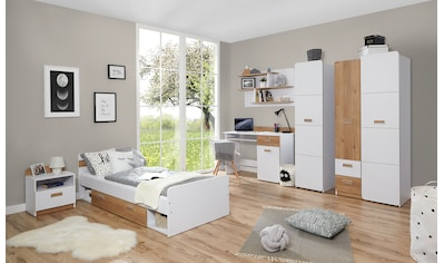 Ticaa Jugendzimmer-Set »Lori«, (Set, 6 St.), Bett + Schrank + Schreibtisch +... kaufen