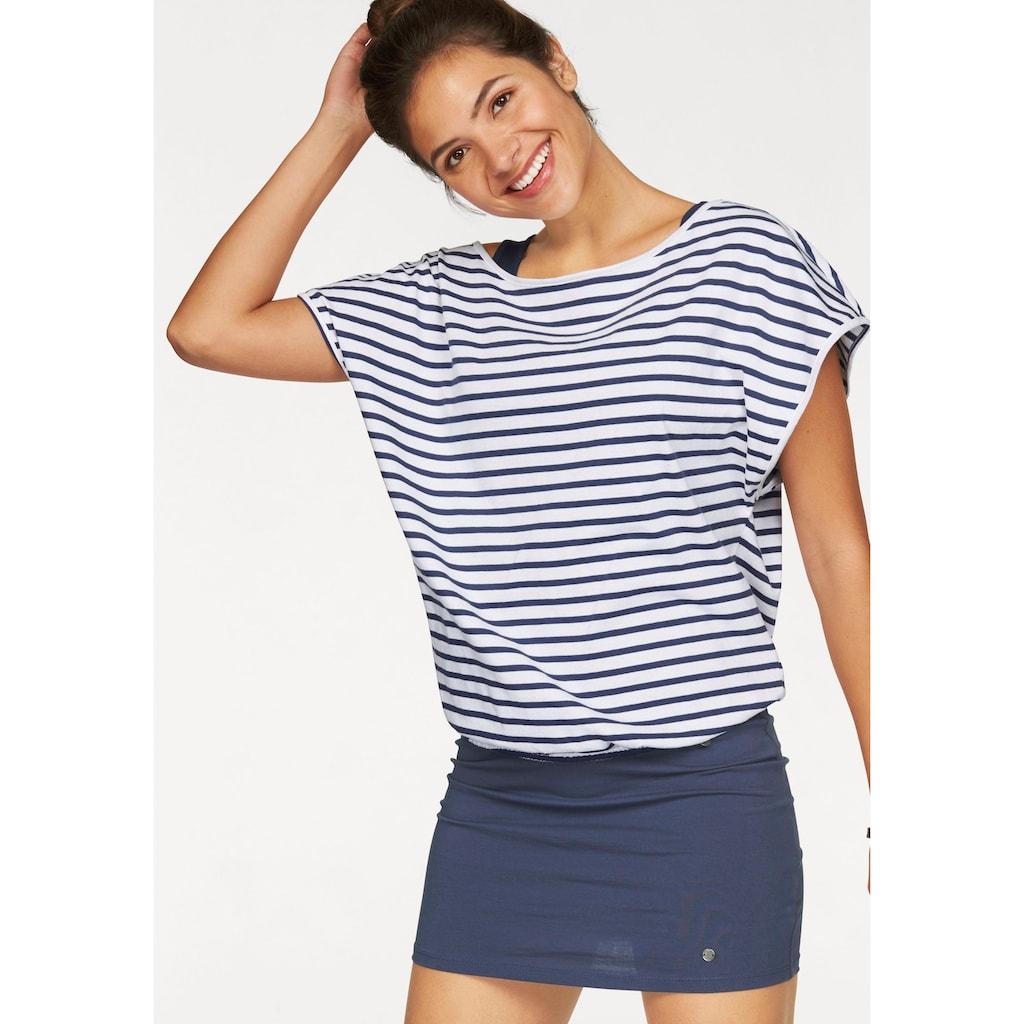 AJC Jerseykleid, (Set, 2 tlg., mit T-Shirt), im Streifen-Look aus Jersey