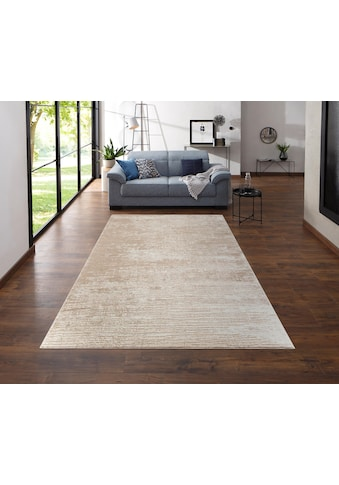 Home affaire Teppich »Ariano«, rechteckig, 12 mm Höhe, Hoch-Tief-Struktur, Wohnzimmer kaufen