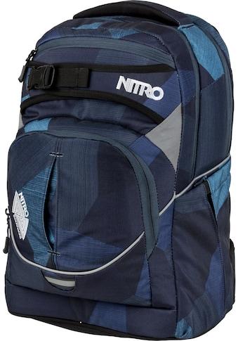 NITRO Schulrucksack »Superhero, Fragments Blue«, Reflektoren kaufen