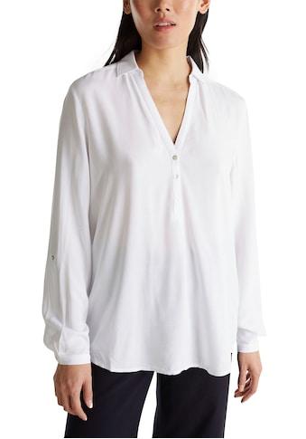 Esprit Shirtbluse, mit Perlmuttknopfleiste kaufen