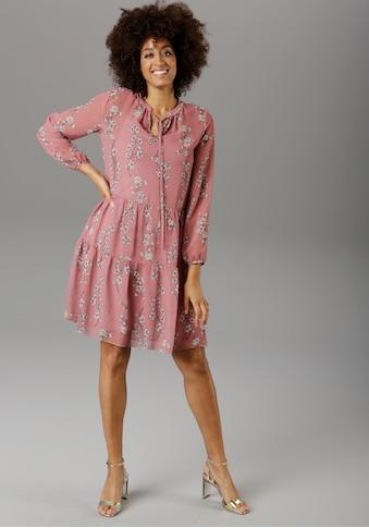 Aniston SELECTED Chiffonkleid, im femininen Blumendruck - NEUE KOLLEKTION kaufen