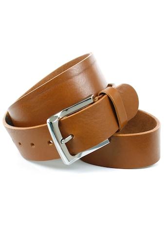 Anthoni Crown Ledergürtel, Denim-Vollledergürtel, Mit edler glänzender Gürtelschnalle kaufen