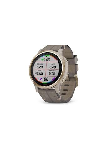 Garmin Smartwatch »Fenix 6S Sapphire Silberfarben/Grau/Goldfarben« ( kaufen