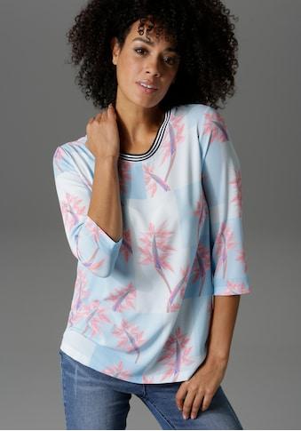 Aniston CASUAL Shirtbluse, mit Strelitzien bedruckt - NEUE KOLLEKTION kaufen