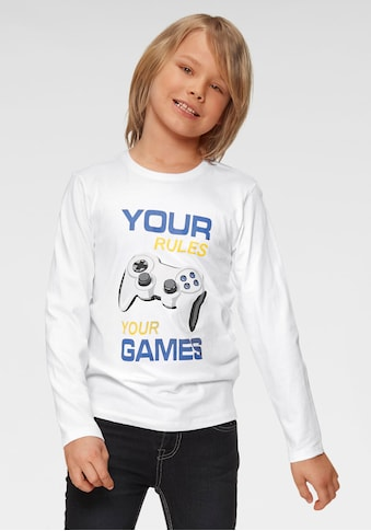 Arizona Langarmshirt »Your rules, your games« kaufen
