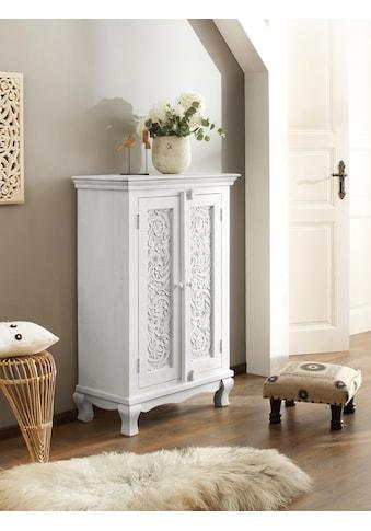 Home affaire Kleiderschrank »Rajat«, aus schönem massivem Mangoholz, mit dekorativen... kaufen