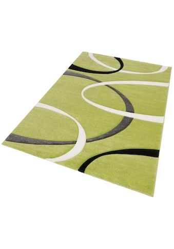 my home Teppich »Bilbao«, rechteckig, 13 mm Höhe, mit handgearbeitetem Konturenschnitt, Wohnzimmer kaufen