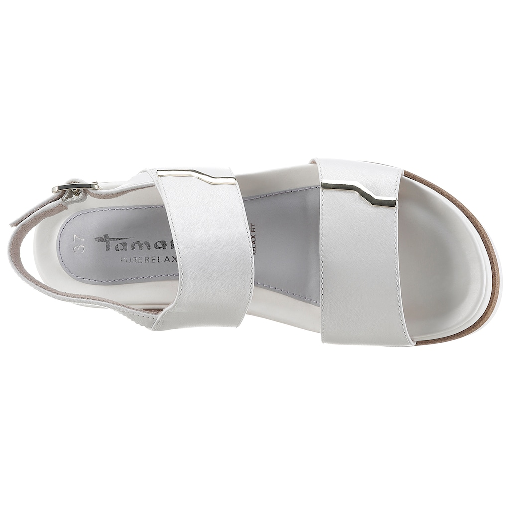 Tamaris Sandale »Pure Relax«, mit goldfarbenen Details
