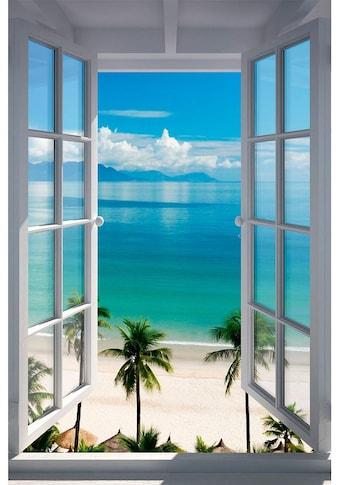 Home affaire Bild »Strand Fenster«, 60/90 cm kaufen