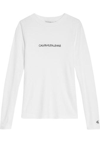 Calvin Klein Jeans Langarmshirt »LOGO RIB«, in elastischer Viskosequalität kaufen