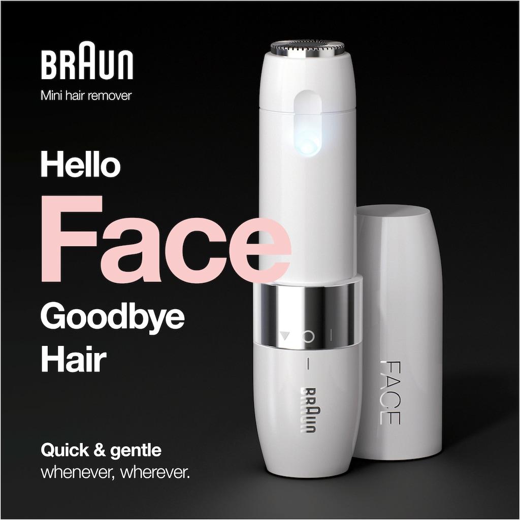 Braun Elektrogesichtshaarentferner »FS1000 Face Mini-Haarentferner«, 1 St. Aufsätze, ideal für unterwegs, mit Smartlight