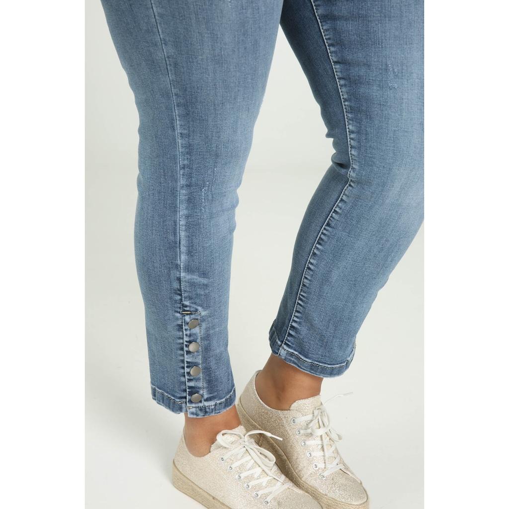 Paprika Weite Jeans »Hosenende umgeschlagen«, verwaschen