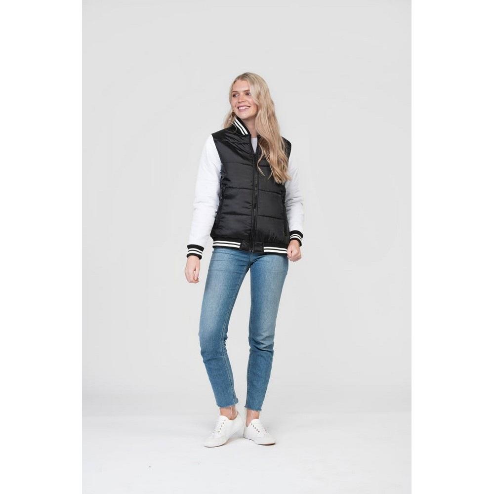 Image of AWDIS Collegejacke »Just Hoods Unisex Varsity Puffer Jacke Erwachsene«