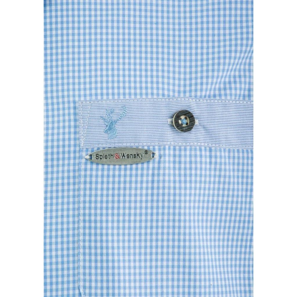 Spieth & Wensky Feierlaune Trachtenhemd, im Karodesign