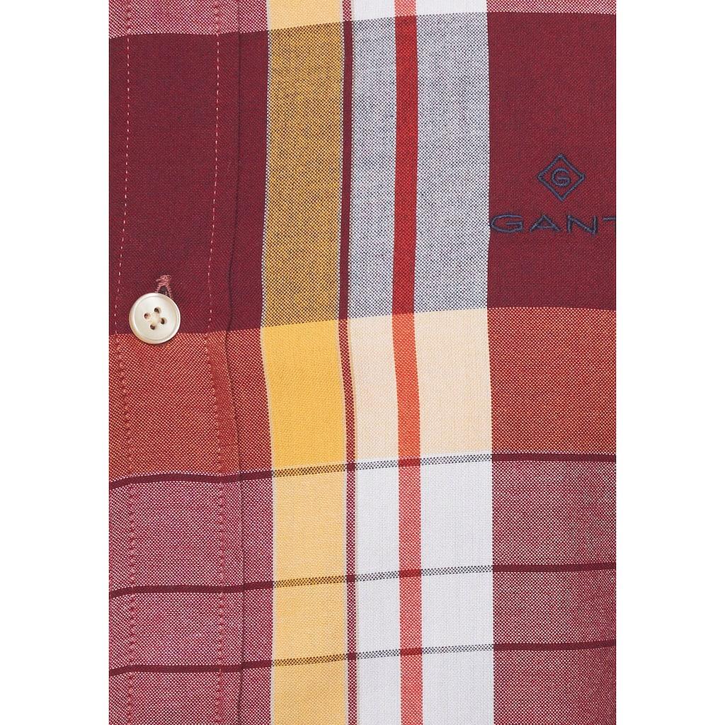 Gant Langarmhemd »OXFORD MADRAS«, Button-down-Kragen