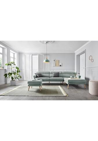 andas Ecksofa »Bille«, mit Naht im Rückenkissen und Beinen aus Eichenholz, Design by Morten Georgsen kaufen