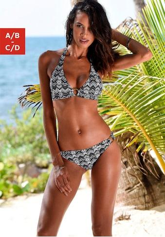 LASCANA Triangel-Bikini, mit goldfarbenen Zierringen kaufen