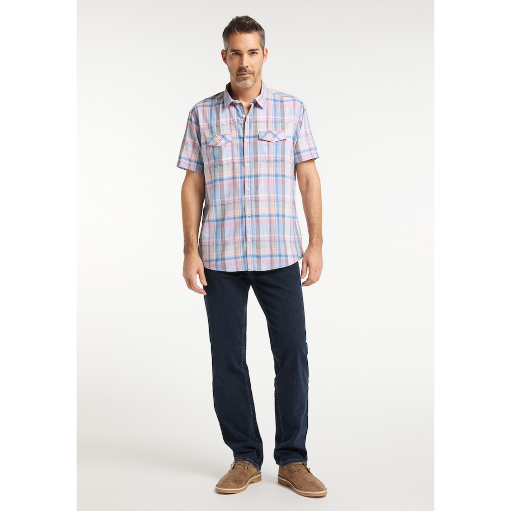 Pioneer Authentic Jeans Herrenhemd Karo Regular Fit