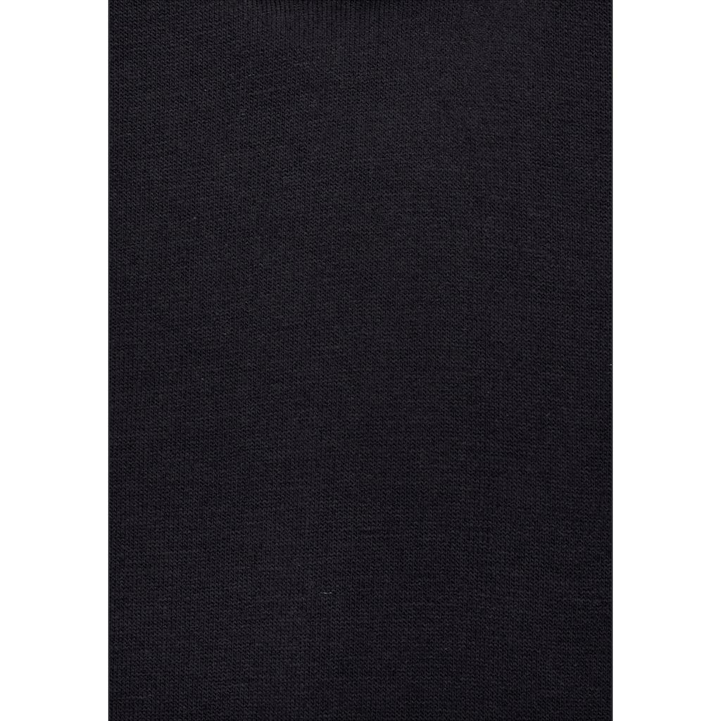 LASCANA Jerseykleid, mit goldfarbenem Reissverschlussdetail