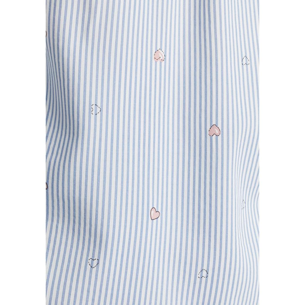 Esprit Schlupfbluse, im Tunika-Stil und mit halber Knopfleiste