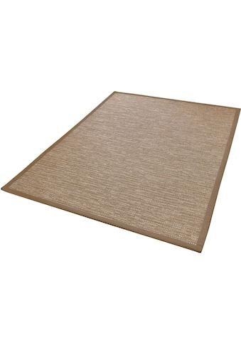 Dekowe Teppich »Naturino Effekt, Wunschmass,«, rechteckig, 8 mm Höhe, Flachgewebe, Sisal-Optik, mit Bordüre, In- und Outdoor geeignet, Wohnzimmer kaufen
