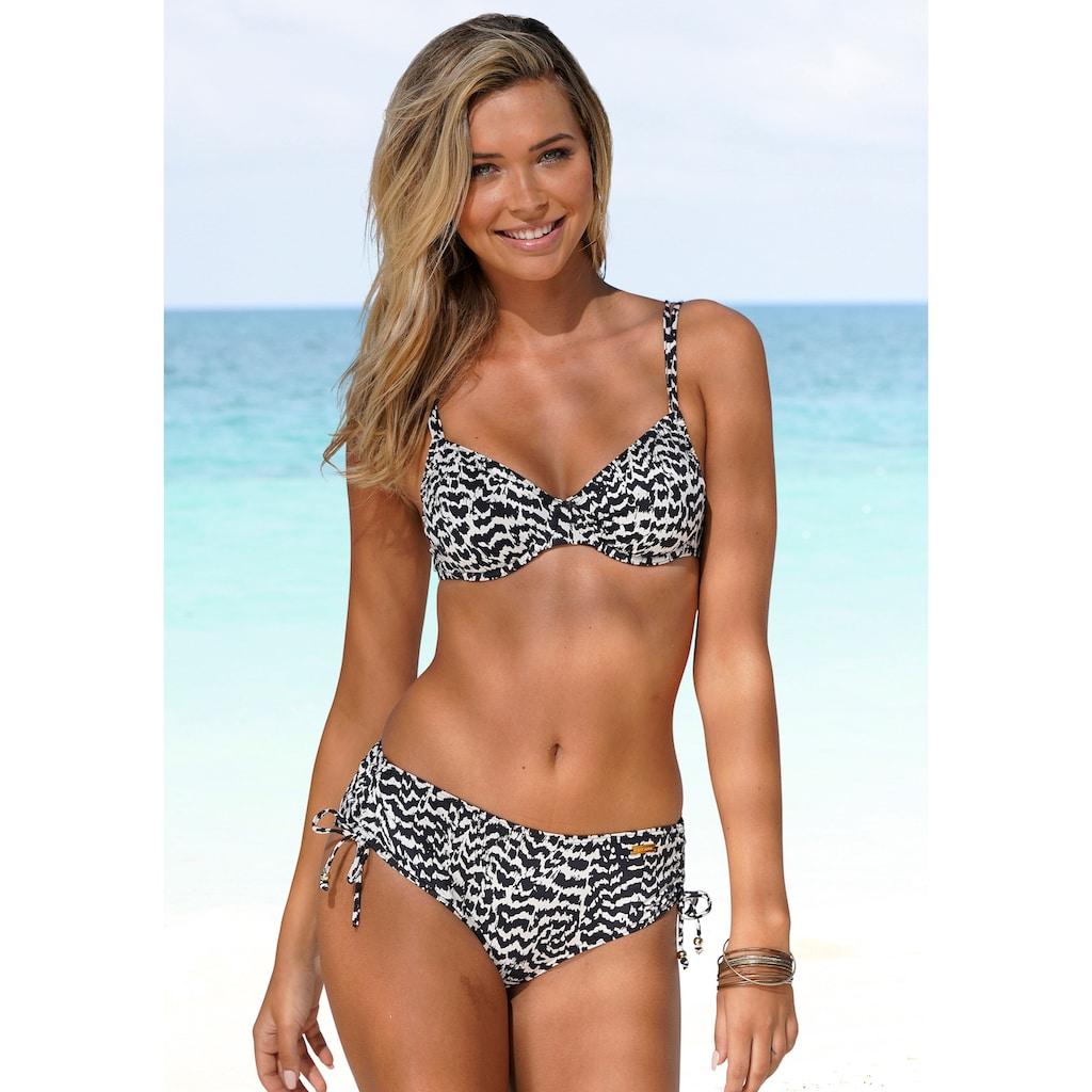 LASCANA Bügel-Bikini-Top »Clara«, mit Doppelträgern und Print