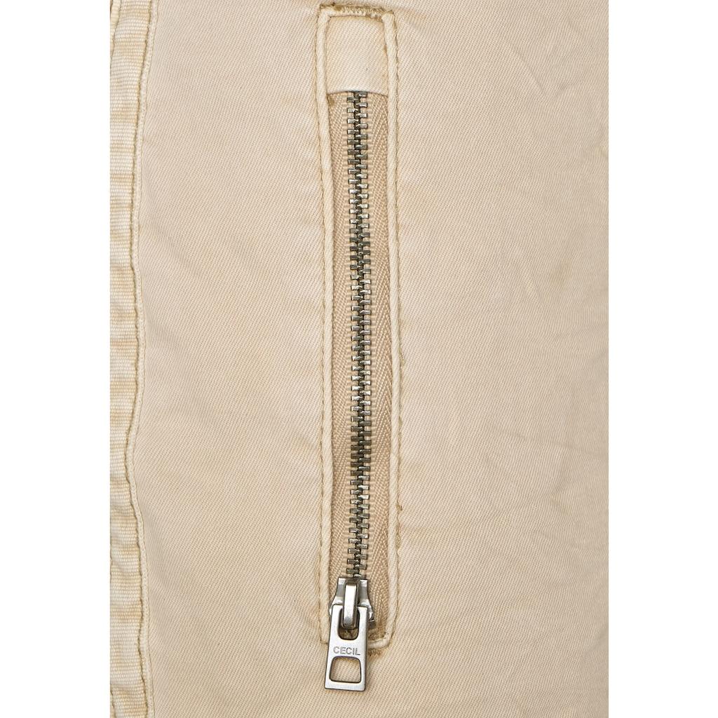 Cecil Röhrenhose, mit Zipperdetails