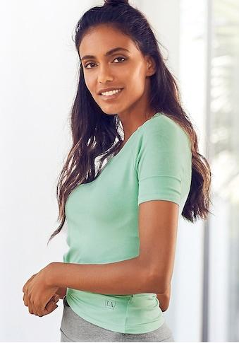 LASCANA T-Shirt, mit Rundhalsausschnitt kaufen