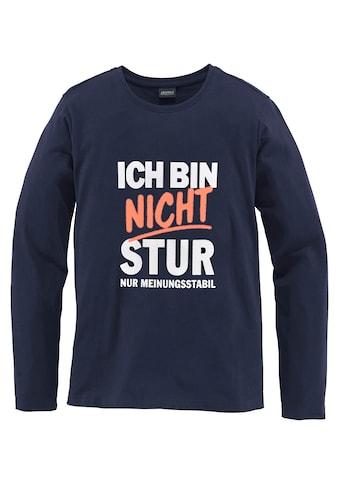 KIDSWORLD Langarmshirt »Ich bin nicht stur« kaufen