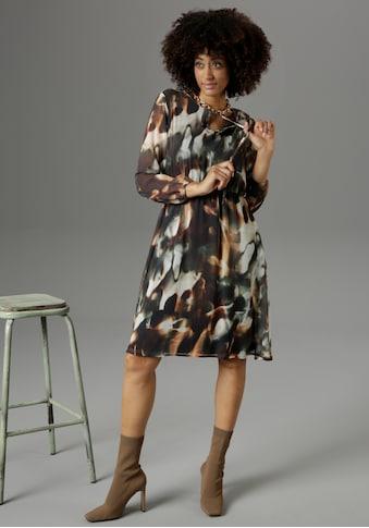 Aniston SELECTED Chiffonkleid, mit transparenten Ärmeln - NEUE KOLLEKTION kaufen