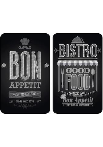 WENKO Herd-Abdeckplatte »Bon Appetit«, (Set, 2 tlg.), rutschfesten Spezialfüsse kaufen