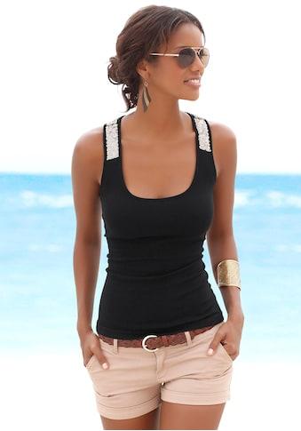 LASCANA Strandtop, mit Pailetten kaufen