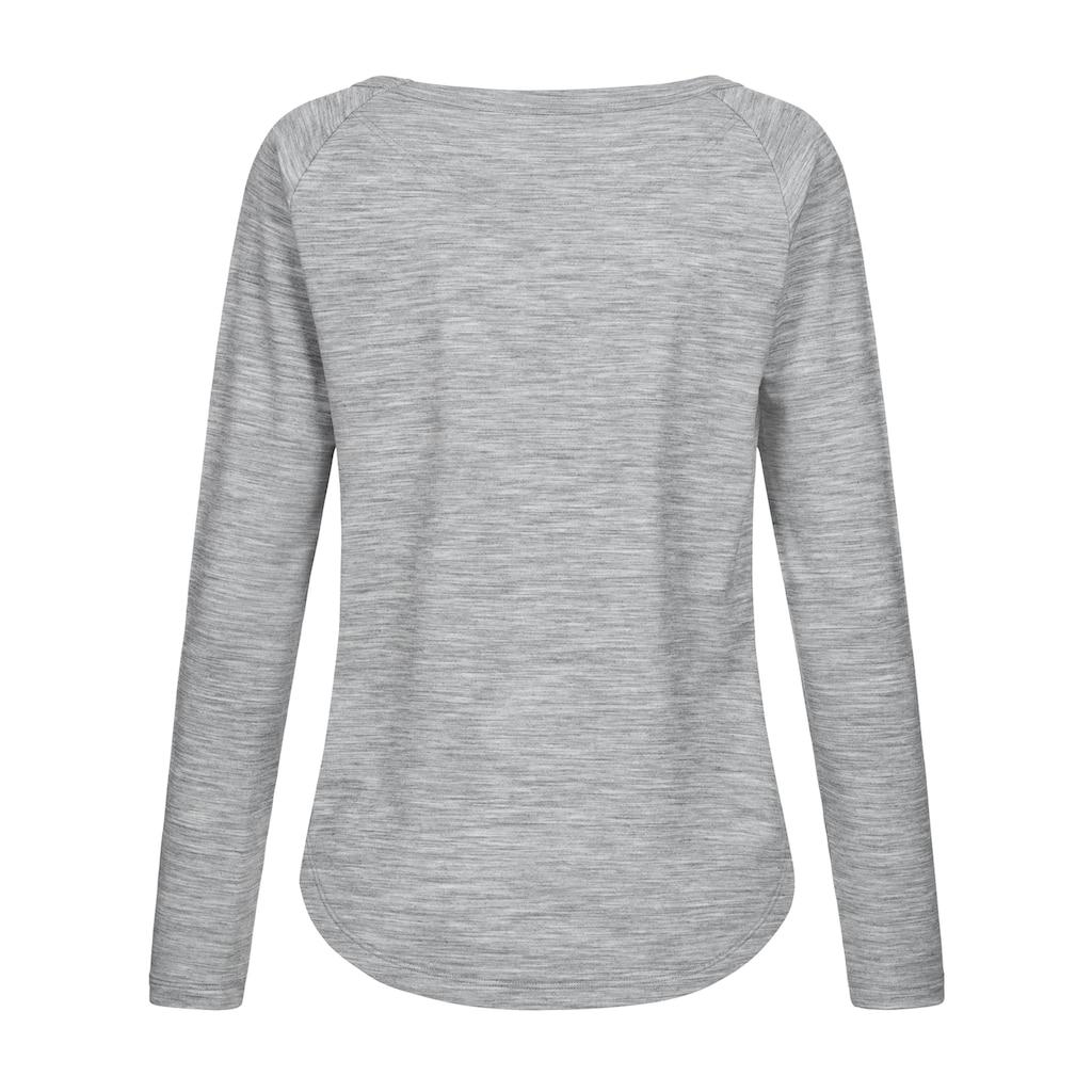 SUPER.NATURAL Sweatshirt »W ESSENTIAL CREW«, atmungsaktiver Merino-Materialmix