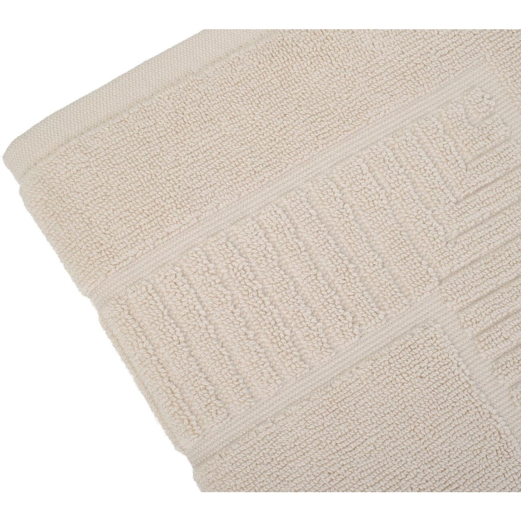 Gözze Badematte »Bio Uni«, Höhe 7 mm, fussbodenheizungsgeeignet-beidseitig nutzbar, Bio-Baumwolle