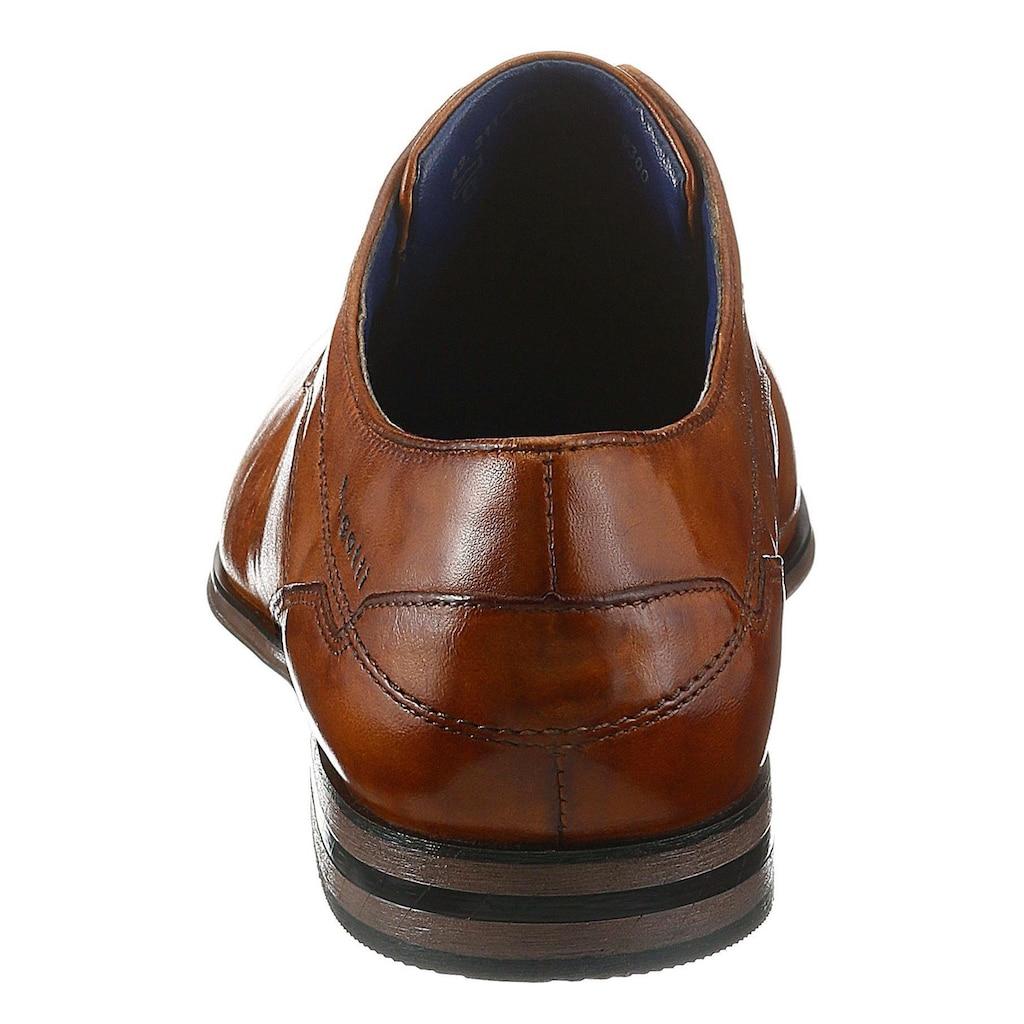 bugatti Schnürschuh »Morino«, mit dezenten Ziernähten