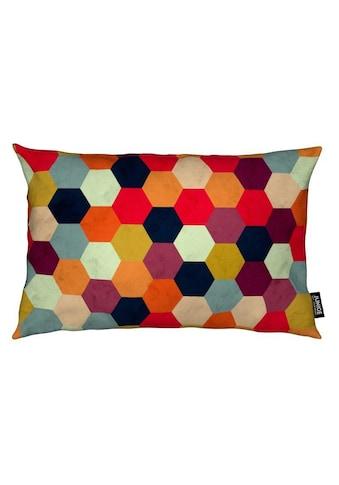 Juniqe Dekokissen »Colorful Beehive Pattern«, Weiches, allergikerfreundliches Material kaufen